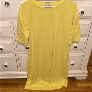 Zara yellow jersey dress